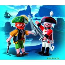 Playmobil Importado 4127 Piratas Con Corsario Con Espadas