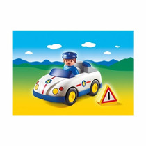 Auto De Policía Playmobil - Línea 1.2.3. - Art 6797