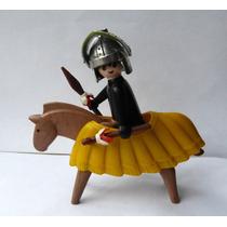 Muñeco Playmobil Y Accesorios Geobra 1974 Caballero Medieval