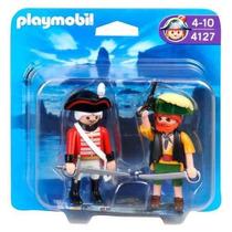 Playmobil Pirata Y Soldado 4127 Muñecos