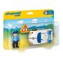 Educando Playmobil 1-2-3 Auto De Policía Con Conductor 6797
