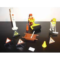 Trabajadores Viales Playmobil