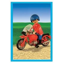 Playmobil Moto Roja Con Muñeco Original Antex