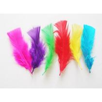 Plumas Artesanias De Colores De 7 A 15 Cm Por 100 Plumas