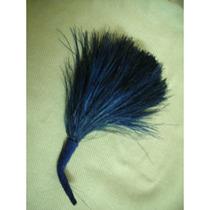 M11 Antiguo Ramillete De Plumas De Ave Color Azul Marino