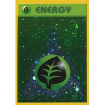 Cartas Pokemon Energía Planta Foil Mint
