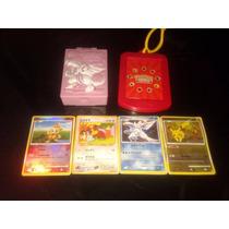 4 Cartas De Pokemon Con Dos Accesorios Originales