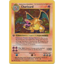 Cartas Pokemon Charizard Base Set 1er Edicion Near Mint