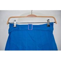 Pollera Falda Tiro Alto - Azul - Pin Up - Lolita - Cortita