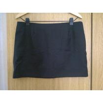 Pollera Mini De Paño De Lana Negra - Talle M / L