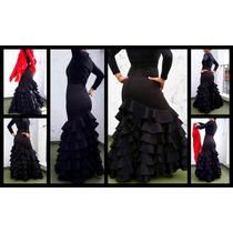 Falda Flamenca A Medida Tela Elastizada Two Way No Jersey