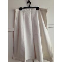 Pollera Blanca Tiro Alto De Vestir