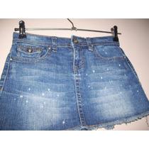 Pollera Jeans Marca Vigoss Talle 8 Años