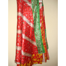 Pollera Pareo Estilo India - Seda-capas Tela Dist. Diseños