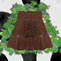Falda Pollera Tejido Crochet Otoño Invierno Primavera Verano