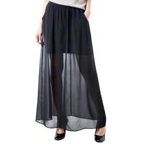 Pollera De Gasa Forrada, Vestidos, Camisas, Pantalones,jean