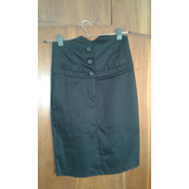 Pollera-falda Negra Gabardina Spandex.