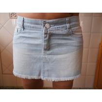 Pollera Mini Jeans Celeste T 42/44