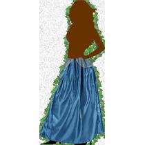Falda - Pollera De Fiesta En Raso Cintura Elastizada