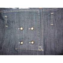 Polleras Tiro Medio Alto Jeans Elastizadas Grandes Tipo Tubo
