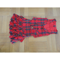 Conjunto Nena Pollera Y Chaleco Escoces Childrens Place