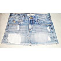 Venta Marca Abercrombie & Fitch Pollera Jeans Importada. Xs