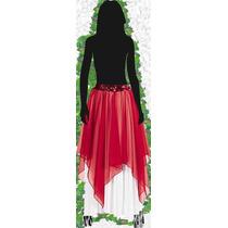 Falda ~ Pollera Larga Cintura Elastizada Fiesta Vestir