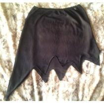 Pollera Negra De Vestir Von Corte Irregular. Talle S. Nueva