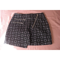 Minifalda Vestir/elegante Sport Base Negra M Elastizada Nva