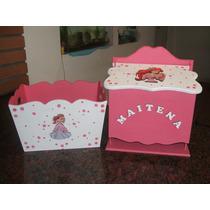 Caja Portacosmeticos + Pañalera De Princesas Personalizado