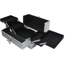Maletin Profesional Aluminio Portamaquillaje 4 Bandejas
