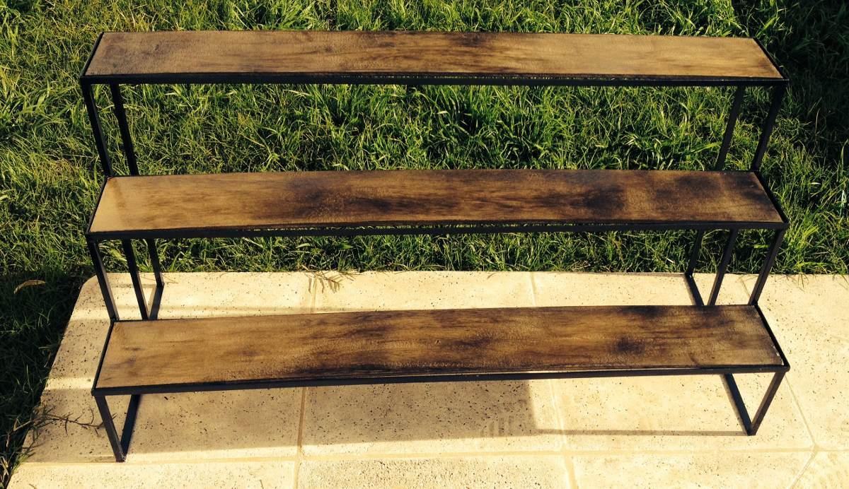 Porta macetas de hierro a medida tipo escalera gardening - Jardineras en escalera ...
