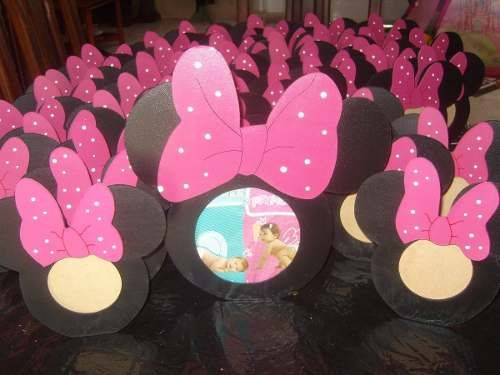 Portaretratos Mickey Minnie Souvenirs Fibro Facil P/ Pintar - $ 97 ...