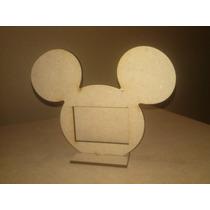 30 Porta Retratos Mickey , C/vidrio, Fibro Cortado Laser