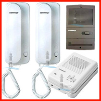 Kit Portero Eléctrico Commax Dp-101ra Frente + 2 Telefonos