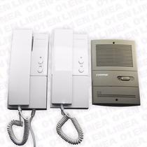 Kit Portero Electrico Commax 2 Telefonos 1 Fte Embutir Dp101