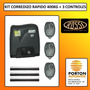 Kit Automatizacion Porton Automatico Ultrarapido 3 Controles