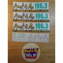 Combo De Calcos De Radio Fm Rock And Pop