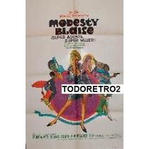 Afiche Modesty Blaise Monica Vitti, Terence Stamp 1966