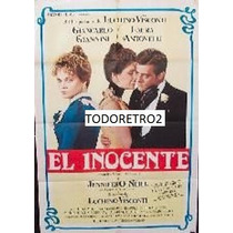 Afiche El Inocente Giancarlo Giannini Laura Antonelli 1976