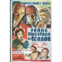 Afiche Obras Maestras Del Terror Narciso Ibañez Menta 1960