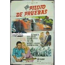 Afiche Piloto De Pruebas Carlos Alberto Pairetti, Gilda 1972