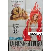 Afiche La Diosa Del Fuego Ursula Andress, Peter Cushing 1957