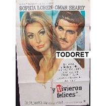 Afiche Y Vivieron Felices Sophia Loren, Omar Sharif 1967