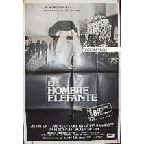 Afiche El Hombre Elefante Anthony Hopkins, John Hurt 1980