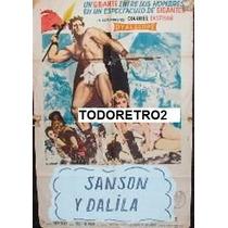 Afiche Sansón Y Dalila Steve Reeves, Mylène Demongeot 1959
