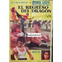 Afiche El Regreso Del Dragon - Bruce Lee - 1972
