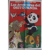 Afiche Original - Las Aventuras Del Osito Panda - 1973