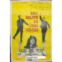 Afiche Una Mujer Es Una Mujer Anna Karina Paul Belmondo 1961
