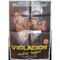 Afiche Violación Entre Rejas Nanda Van Bergen 1977